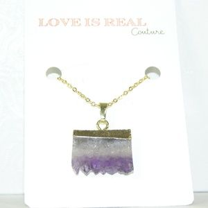 LAST ONE! Amethyst & Gold Druzzy Necklace